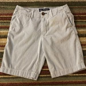 American Eagle Blue and White Pinstripe shorts